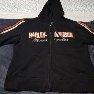 Harley Davidson zip up hoodie